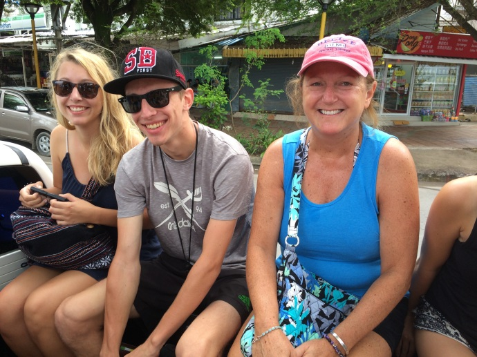 truck ride to long boat launch to Rai Lay