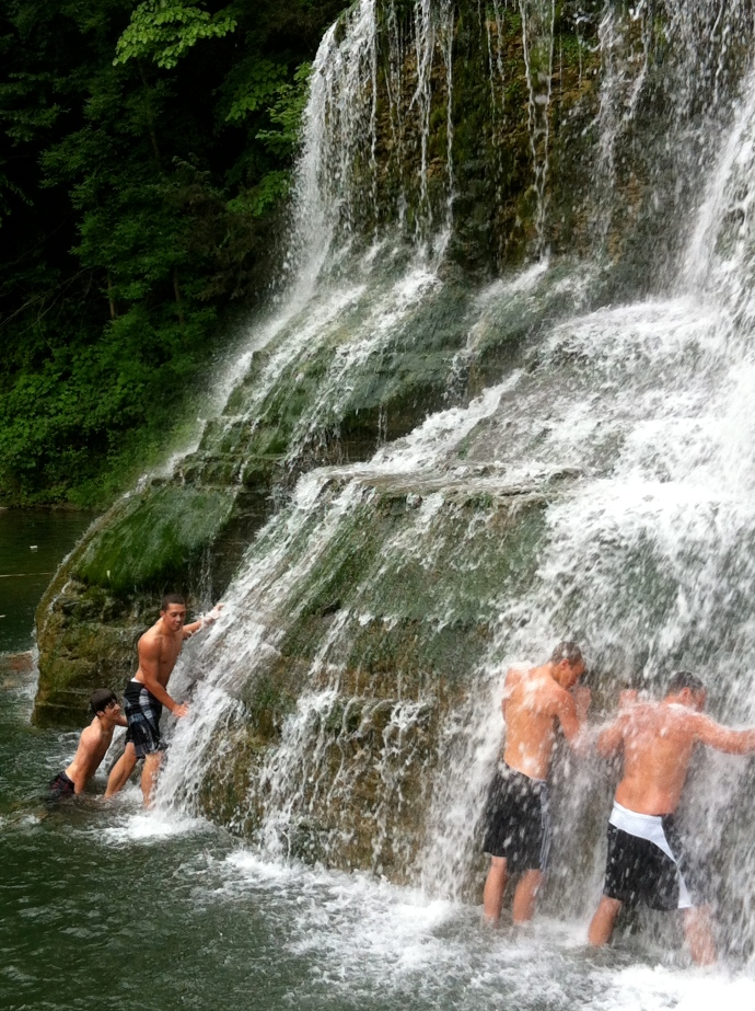 Lower Falls and swim area at Robert Treman State Park